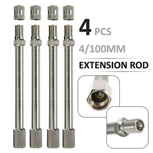 4x Chrome Tyre Wheel Valve Extension Extender Caps Stem For Car Truck Van New W1