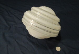 Vintage Art Deco Glass Light Fixture Shade Ex Cond 1930 S 4 Fitter