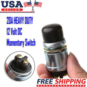 12v 20a Waterproof Car Boat Track Switch Push Button Horn Engine Start Starter
