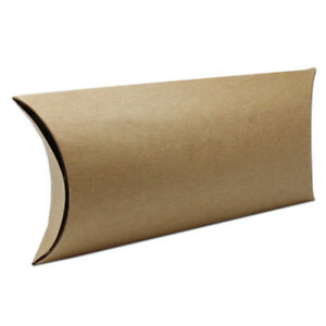 Anti scratch Kraft Paper Pillow Pack Box Wedding Party Gifts Candy Package Boxes