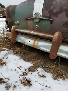 1953 54 Pontiac Chieftain Rear Bumper Guard W crossbar