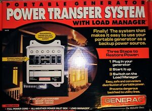 Generac Power Transfer System With Load Manager 7200 Watt 30a 240v 60a 120v