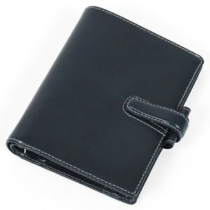 new Filofax Cuban Italian Leather Pocket Organiser In Ink blue see Details