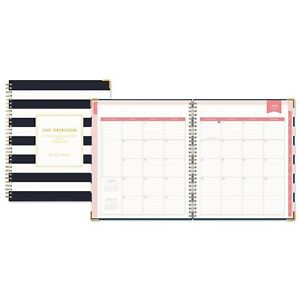 Blue Sky Day Designer Academic Year Weekly Monthly Hardcover Planner 8 X 10