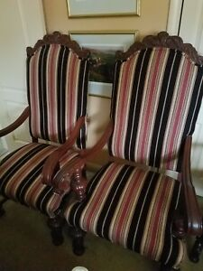 Pair Of Antique Arm Chairs From The Granada Theater Detroit Michigan