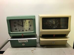 Acroprint Model 125nr4 Simplex Time Recorder Electric Timeclock