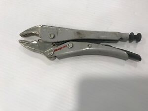 Snap On Lp7wr 7 Locking Curved Jaw Pliers With Cutter
