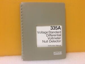 Fluke 293944 335a Voltage Standard Differential Voltmeter Null Detector Manual
