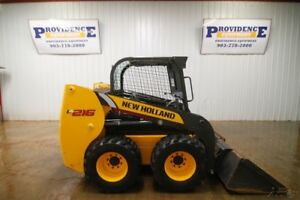2015 New Holland Wheeled Skid Steer Loader Open Rops 57hp