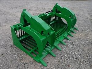 John Deere Tractor Loader Attachment 80 Rock Bucket Grapple Ship 199