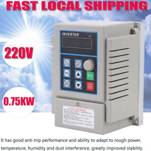 0 75kw 220v Single Phase Variable Frequency Drive Inverter Cnc Vfd Vsd