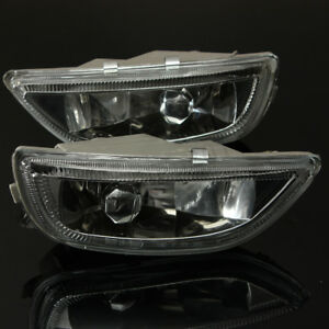 Clear Lens Front Bumper Driving Fog Light For 2001 02 Toyota Corolla