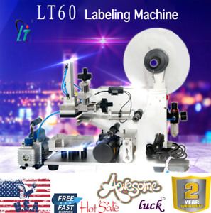 Lt 60 Semi automatic Plane Flat Surface Labeling Machine Labeler 110v
