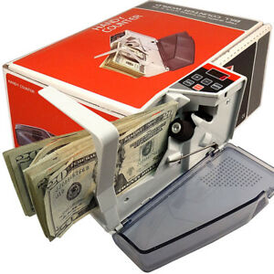 Portable Handy Mini Bill Cash Money Currency Counter V40 Counting Machine Top