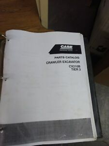 Case Cx210b Tier 3 Crawler Excavator Trackhoe Parts Catalog