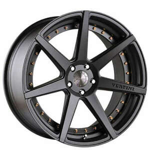 19 Vertini Wheels Dynasty Slate Grey Rims Fs