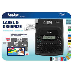 Brother Pt 1890c Deluxe Label Maker With 1ea 1 2 3 4 Starter Tape