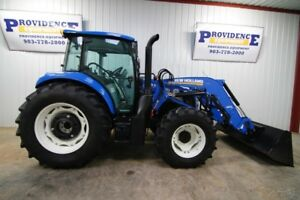 2017 New Holland T4 100 Cab Tractor Loader 107hp