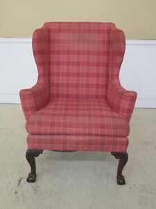 F44862ec Kittinger Cw 104 Colonial Williamsburg Claw Foot Wing Chair