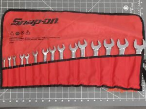 New Snap On Sae Short Combination Wrench 15pc Set 1 4 1 Oexs715k Roll Pouch 12pt