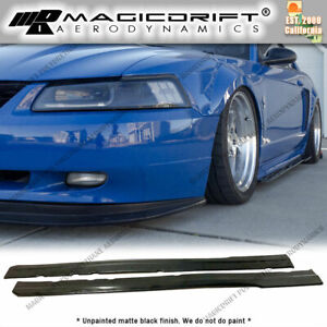 For 99 04 Ford Mustang Mach1 Mda Style Side Skirt Rocker Panel Extension Lips
