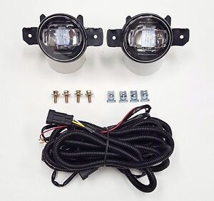 For 2004 2016 Nissan Sentra Clear Fog Driving Light Kit Led Drl With Wire Switch