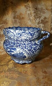 Antique Chinese Blue And White Porcelain Pot Or Bowl