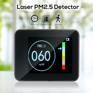 Portable Laser Pm1 0 Pm2 5 Pm10 Detector Home Office Car Air Quality Tester Lcd
