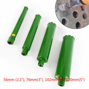 4x Premium Green Wet Diamond Core Drill Bit Set 2 2 3 4 5 For Concrete