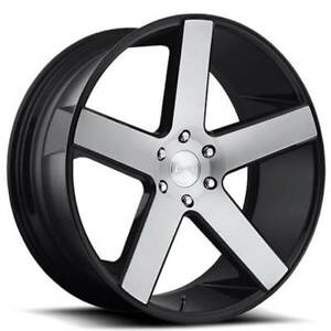 24 Dub Wheels Baller S217 Gloss Black With Brushed Face Rims Fs