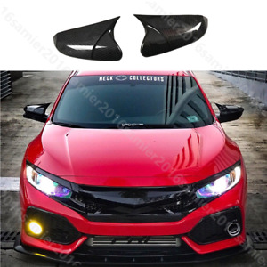 For Honda Civic Type R 2017 2019 Carbon Fiber Color Rearview Mirrors Cover Trim