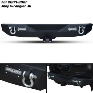 Front Bumper Combo Winch Plate 2xled Light D Ring1997 2006 Fit Jeep Wrangler Tj