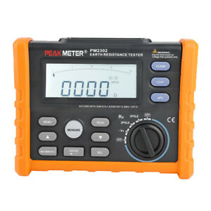 Peakmeter Pm2302 ms2302 Digital Ground Earth Resistance Voltage Tester Meter