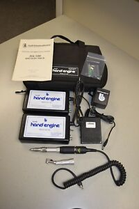 Bell Dental Rx 100 Hand Engine 2 Controllers Battery Packs W Accessories