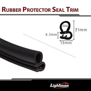 40ft Rubber Seal Door Edge Trim Molding Strip Truck Rv Suv Car Black Soundproof