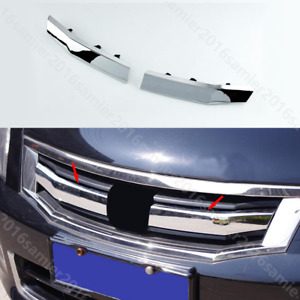 For Honda Accord 2008 2010 2pc Chrome Abs Front Grille Grill Trim Cover