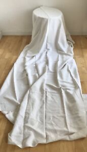 Antique 1800s Flax Linen Sheet Hemp Bed Cover Home Loomed Hand Sewn Stunning