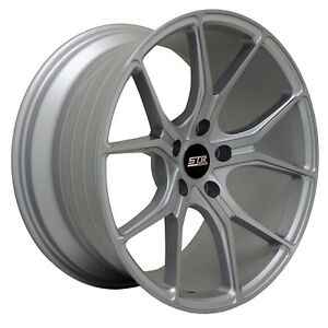 18x9 5x108 Str 602 Silver Machine Made For Ford Volvo