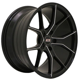 18x9 5x112 Str 602 Black Milled Made For Mercedes Audi Volkswagon