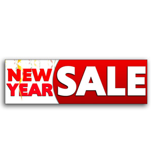 New Year Sale Vinyl Banner size Options