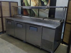 True Pizza Prep Table With Raised Rail Model Tpp93