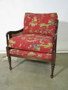 Baker Milling Road English Regency Chinoiserie Chair Caned Back