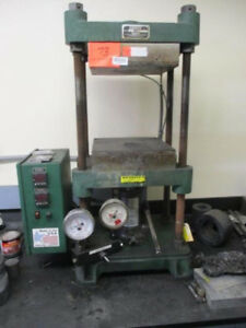 12 Ton X 12 X 12 Carver 2697 Hydraulic Heated Platen Press Upacting Bench Mod