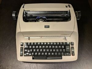Vintage Ibm Selectric I Brown Typeball Electric Typewriter For Parts Repair