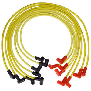 8x Spark Plug Wires Set For Chevy 8 8mm Hei 88480 Sbc 262 400 Yellow