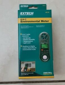Extech 45170 Four In One Environmental Meter hygro thermo anemometer light New