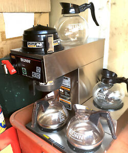Bunn o matic Cdbcf15 Coffee Maker 120v Brewer 3 Warmers 4 Carafes