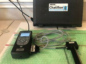 Chatillon Dfs Ll Digital Force Gauge By Ametek Charger Attachments Storage Case