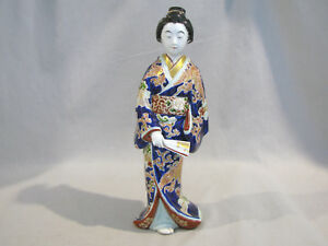 Vintage Antique Japanese Porcelain Geisha Figure Kutani Porcelain 11 5 8