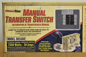 New Honda 32311 189008 30 Amp 6 circuit Indoor Transfer Switch 7500 Watt